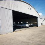 foam suppression aircraft hangar